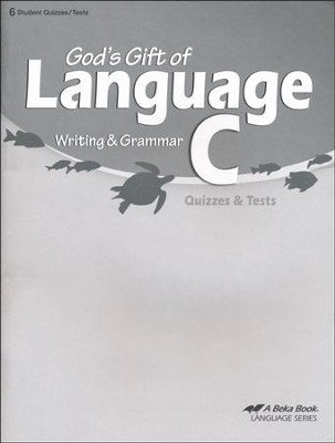 Abeka God's Gift of Language C Writing & Grammar Quizzes &  Tests  -