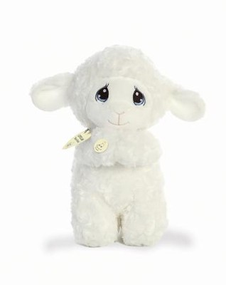 Precious Moments, Luffie Prayer Lamb, Musical, Spanish  -