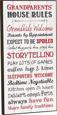 Grandparents House Rules, Wall Art  -