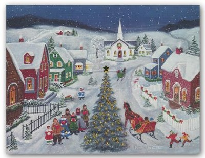 Silent Night, Christmas Cards, Box of 18  -     By: Mary Singleton