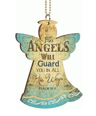 His Angels Will Guard You, Car Charm  -