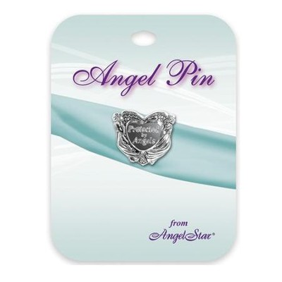Protected By Angels Lapel Pin  -