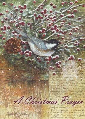 Chickadee Greens (2 Corinthians 9:8, NIrV), 20 Count Boxed Christmas Cards  -
