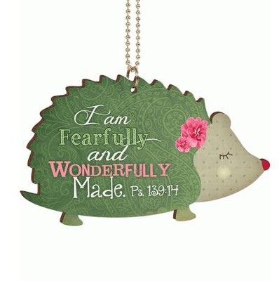 Hedgehog, I Am Fearfully and Wonderfully Made, Car Charm  -