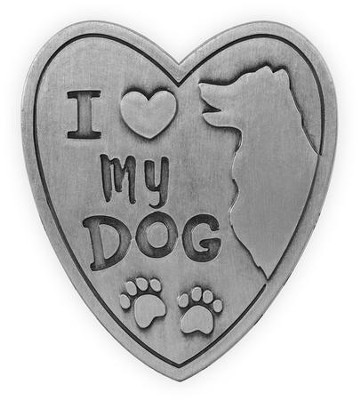 I Love My Dog, Visor Clip  -