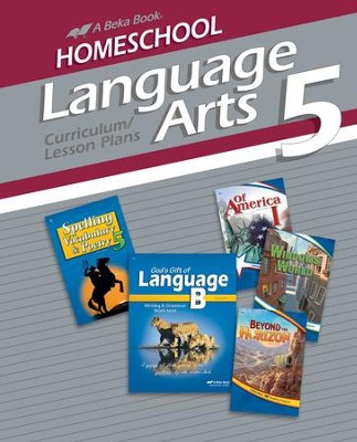 Abeka Homeschool Language Arts 5 Curriculum/Lesson Plans   -