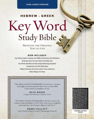 KJV Hebrew-Greek Key Word Study Bible, genuine leather, black-indexed  -     Edited By: Spiros Zodhiates
