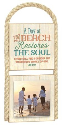 A Day At The Beach Photo Plaque  -
