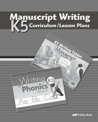 Abeka K5 Manuscript Lesson Plans   -