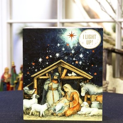 O Holy Night Lighted Nativity Scene   -     By: Susan Winget