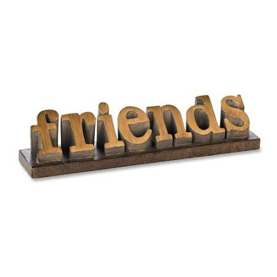 Friends Word Sculpture  -