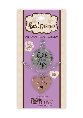 Paws to Enjoy Life, Pendant and Charm Set  -