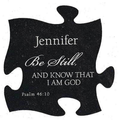 Personalized, Puzzle Magnet, Be Still, Black   -