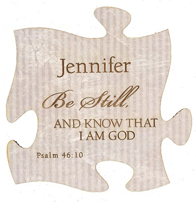 Personalized, Puzzle Magnet, Be Still, White   -