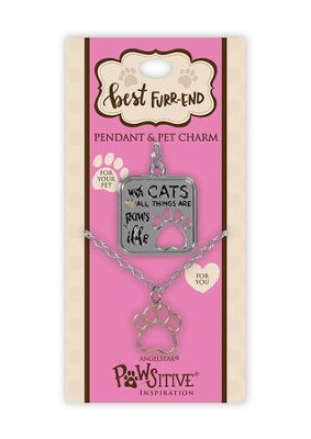 With Cats All Things Are Paws-ible, Pendant and Charm Set  -