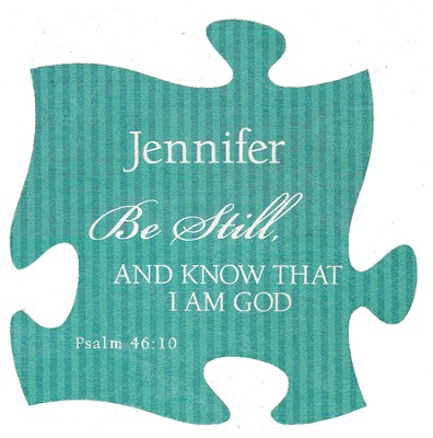 Personalized, Puzzle Magnet, Be Still, Green   -