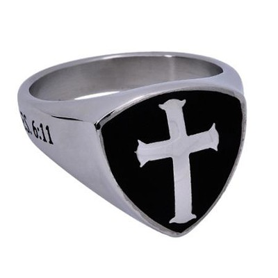 Armor of God Shield Cross, Size 10 (Ephesians 6:11)  -