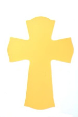 Blank, Wall Cross, Small, Yellow   -