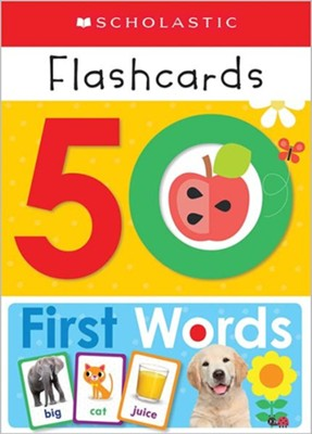 Write and Wipe Flashcards: First 50 Words  -     By: Scholastic