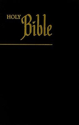KJV Pew Bible, Paper Over Board, Black  -