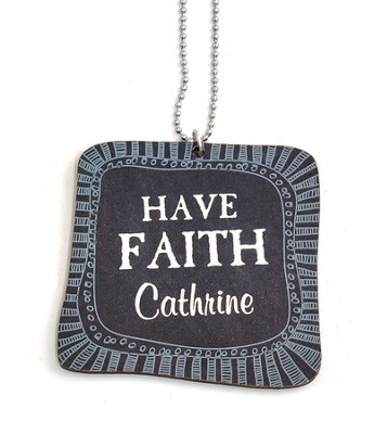 Personalized, Car Charm, Square, Faith   -