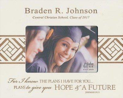 Personalized, Photo Frame, Graduation, 4x6, White   -