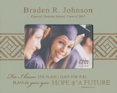 Personalized, Photo Frame, Graduation, 4x6, Green   -