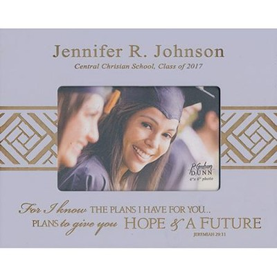 Personalized, Photo Frame, Graduation, 4x6, Purple   -