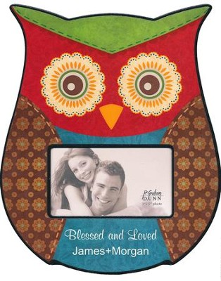Personalized, Photo Frame, Owl Red   -