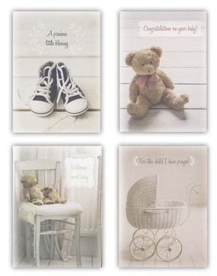 Blessed Baby Congratulations Cards, Box of 12  -