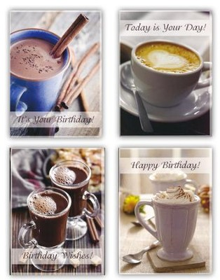 Coffee & Friends Birthday Cards, Box of 12  -