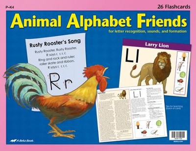 Abeka Animal Alphabet Friends Flashcards (set of 26 cards)   -