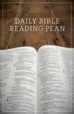 Daily Bible Reading Plan, Pack of 25 Tracts  -