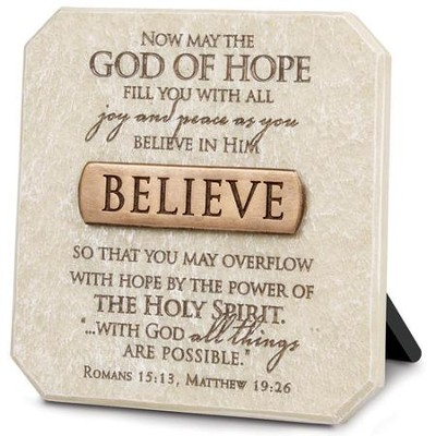 Believe Plaque, Bronze Bar  -