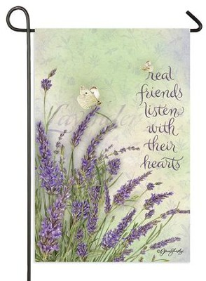 Real Friends Listen With Their Hearts, Lavender Flag, Small  -