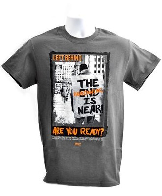 The Beginning Is Near, Short Sleeve Regular Fit Tee Shirt, Charcoal Heather, Adult Large  -