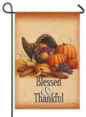 Blessed and Thankful Flag, Small  -