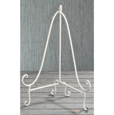 Antique White Plate Easel, 12.75 Inches  -