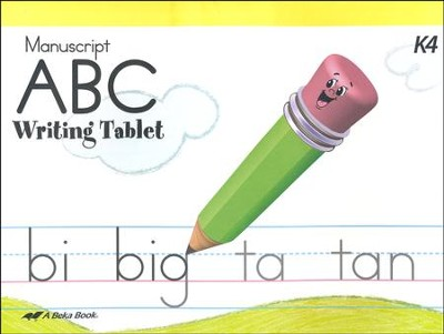 Abeka ABC Writing Tablet (Manuscript)   -