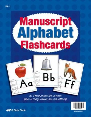 Abeka K4-K5 Manuscript Alphabet Flashcards   -