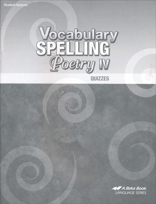 Vocabulary, Spelling, & Poetry IV Quizzes   -