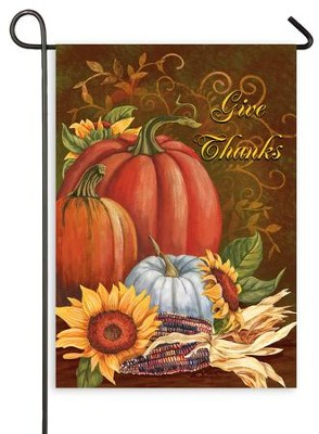 Give Thanks, Flag, Small  -     By: Mary Lou Troutman