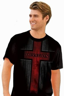 Salvation, Short Sleeve Regular Fit Tee Shirt, Black, Adult Large  -