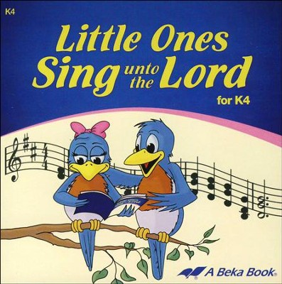 Abeka Little Ones Sing Unto the Lord K4 Audio CD   -