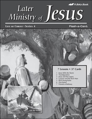 Extra Later Ministry of Jesus Lesson Guide   -
