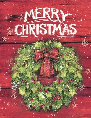 Merry Christmas with Wreath, Boxed Christmas Cards, 18  -     By: Susan Winget