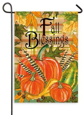 Fall Blessings, Flag, Small  -     By: Rebecca Harrell