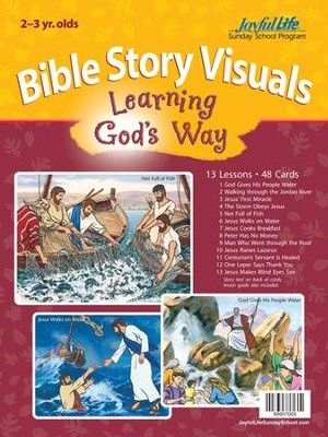 Learning God's Way (ages 2 & 3) Bible Visuals   -