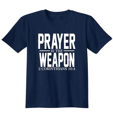 Prayer Is The Weapon, Shirt, Navy, 3X-Large  -