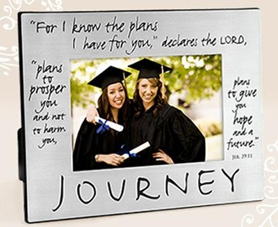 Journey Metal Frame Graduation, Jeremiah 29:11   -